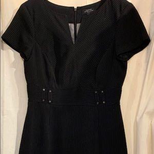 Tahari Classic Pinstriped Sheath Dress Size 4P